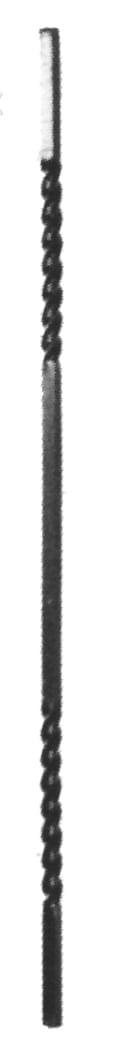 Στριφτό με στρίψιμο καθ' όλο το μήκος της βέργας