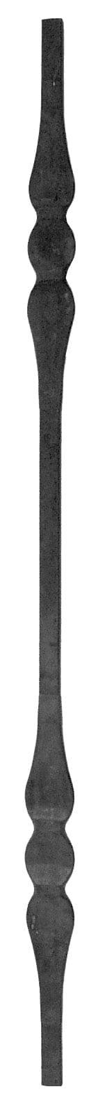 Μοτίφ διπλό με στρίψιμο από τετράγωνο μασίφ σίδερο .