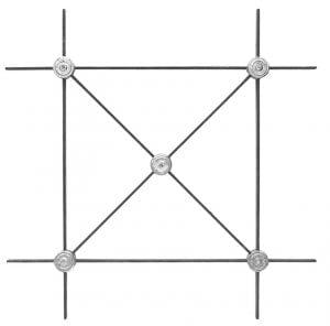 Στοιχείο χιαστί με ροζέτες αλουμινίου