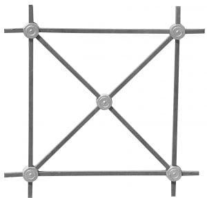 κυρτό από καρέ (τετράγωνο μασίφ σίδερο).