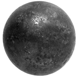Μπίλια Φ25-Φ40 με μισή τρύπα