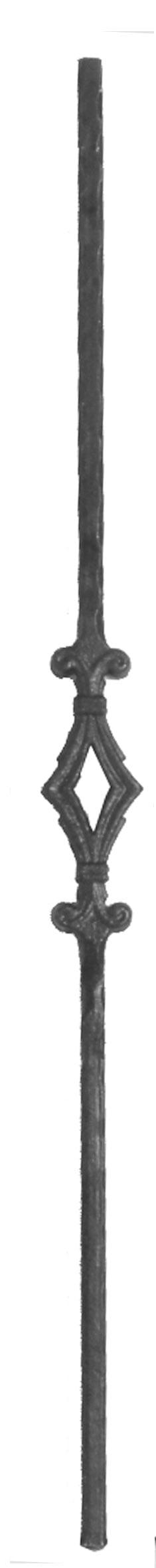 Κολωνάκι με διπλό κόμπο ρόμβο από τετράγωνο μασίφ σίδερο.